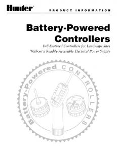 Battery-Powered Controllers
