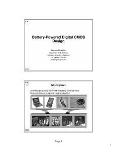 Battery-Powered Digital CMOS Design