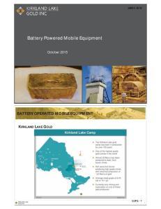 Battery Powered Mobile Equipment