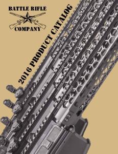 battle rifle company 2016 product catalog