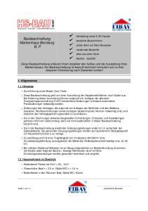 Baubeschreibung Markenhaus Bernburg B, P