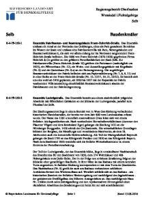 Baudenkmäler. Regierungsbezirk Oberfranken Wunsiedel i.fichtelgebirge Selb