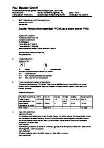Bauder Nahtsicherungsmittel PVC (Liquid seam sealer PVC)