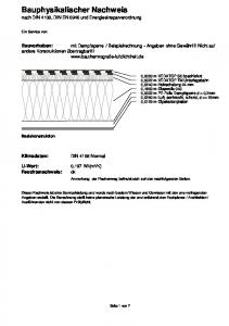 Bauphysikalischer Nachweis nach DIN 4108, DIN EN 6946 und Energieeinsparverordnung
