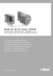 Bausatz - Kit - Set - Kit - Console - Kit ModulA