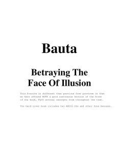 Bauta. Betraying The Face Of Illusion