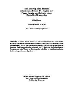 Bauteilprufmaschine. Michael Berger. Me-, Steuer- und Regelungstechnik