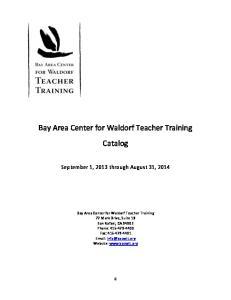 Bay Area Center for Waldorf Teacher Training Catalog