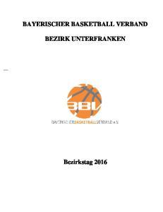 BAYERISCHER BASKETBALL VERBAND BEZIRK UNTERFRANKEN