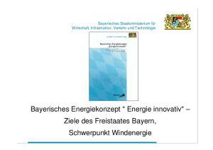 Bayerisches Energiekonzept