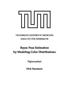Bayes Pose Estimation by Modeling Color Distributions