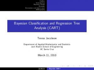 Bayesian Classification and Regression Tree Analysis (CART)
