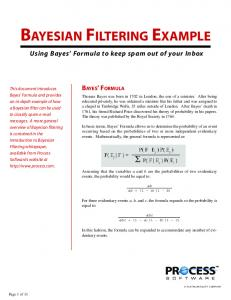 BAYESIAN FILTERING EXAMPLE