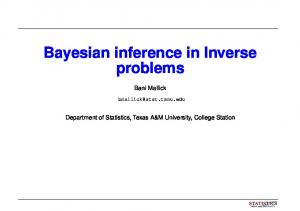 Bayesian inference in Inverse problems