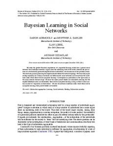 Bayesian Learning in Social Networks