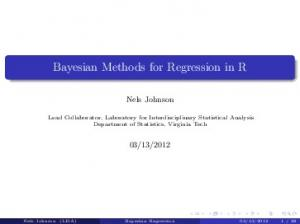 Bayesian Methods for Regression in R