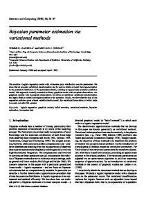 Bayesian parameter estimation via variational methods