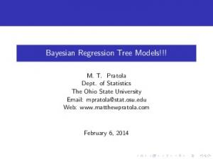 Bayesian Regression Tree Models!!!