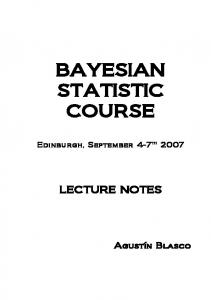 BAYESIAN STATISTIC COURSE