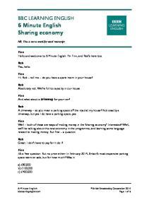 BBC LEARNING ENGLISH 6 Minute English Sharing economy