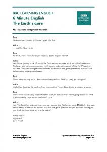 BBC LEARNING ENGLISH 6 Minute English The Earth's core