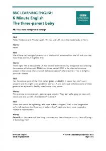 BBC LEARNING ENGLISH 6 Minute English The three-parent baby