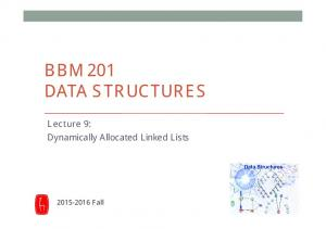 BBM 201 DATA STRUCTURES