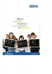 BBVA, working towards a better future for people