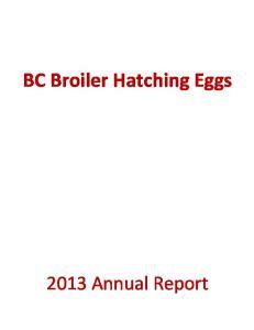 BC Broiler Hatching Eggs