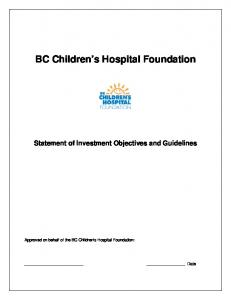 BC Children s Hospital Foundation