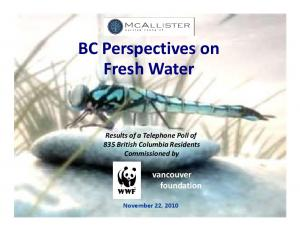 BC Perspectives on Fresh Water