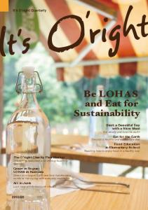 Be LOHAS and Eat for Sustainability