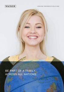 BE PART OF A FAMILY. ACROSS ALL NATIONS. CREATING TOMORROW S SOLUTIONS