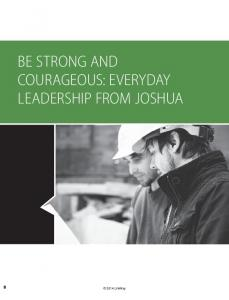 BE STRONG AND COURAGEOUS: EVERYDAY LEADERSHIP FROM JOSHUA