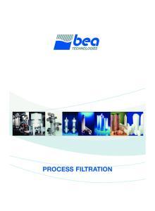 _BEA filtration_ qxd :12 Pagina 1 PROCESS FILTRATION