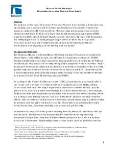 Beacon Health Strategies Depression Screening Program Description