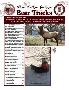 Bear Tracks. Bear Valley Springs