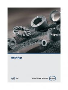 Bearings. Business Unit Tribology