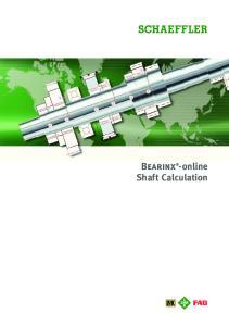 Bearinx -online Shaft Calculation