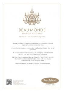 BEAU MONDE BOUTIQUE WEDDINGS