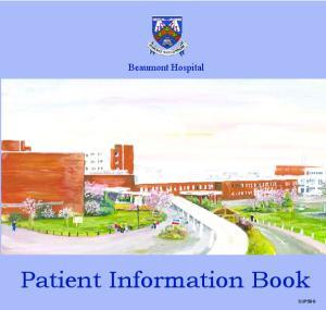 Beaumont Hospital. Patient Information Book SUP59G
