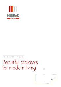 Beautiful radiators for modern living