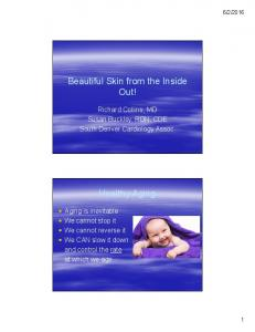Beautiful Skin from the Inside Out! Healthy Aging
