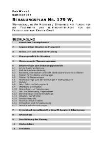 BEBAUUNGSPLAN NR. 179 W,