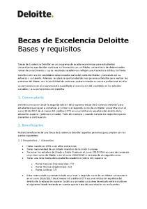 Becas de Excelencia Deloitte Bases y requisitos