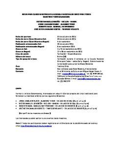 BECAS PARA CLASES MAESTRAS EN LA ESCUELA NACIONAL DE CIRCO PARA TODOS MAESTROS Y ESPECIALIADADES: