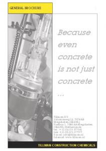 Because even concrete is not just concrete