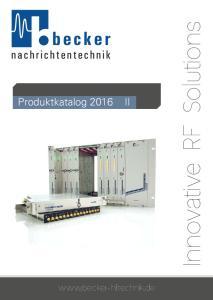becker nachrichtentechnik Produktkatalog 2016