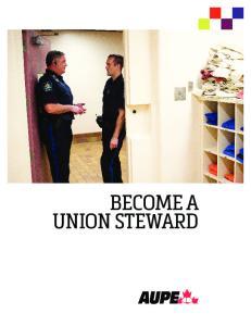 BECOME A UNION STEWARD