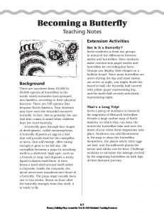 Becoming a Butterfly Teaching Notes